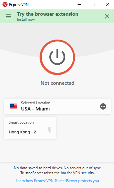 expressvpn dashboard recommended locations