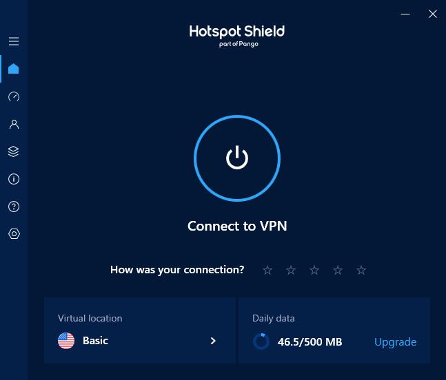 hotspot shield connection