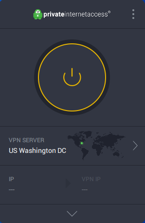 private internet access preferences screen